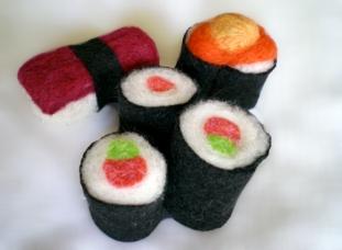 Sushi en laine feutrée
