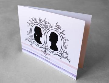 """Faire-part de mariage, impression numérique sur papier 90 lbs, 4,5"""" X 6"""", 2014."""
