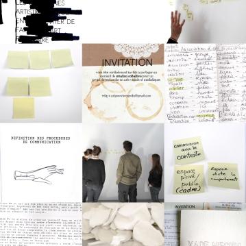 """Image promotionnelle de la recherche sur la collaboration, impression numérique sur papier glacé, 10"""" X 8"""", 2013."""