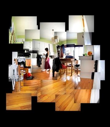 3 et demi, détail. Impression numérique, 2,5' X 8', 2011.