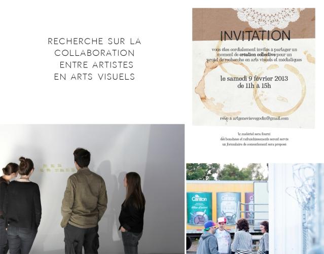 Recherche théorique sur la collaboration entre artistes professionnels, 2010-2014.