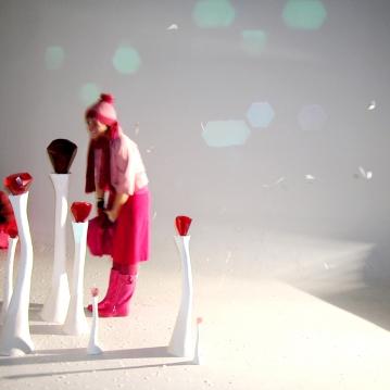 Ciel de neige, installation vidéo et performance, 2006.