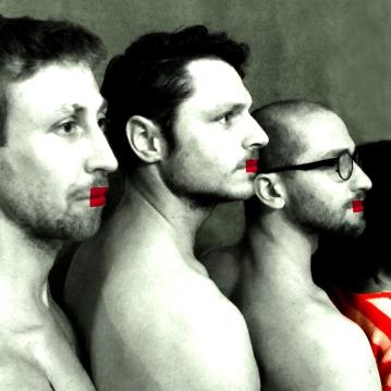 Les carrés rouges, image numérique, 2012.