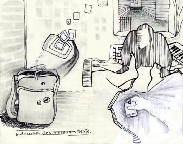 Sad, sad ID, dessin tiré d'un cahier de croquis, 2010.