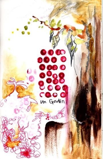 Un Godin., aquarelle, extrait d'un cahier d'artiste, 2006.